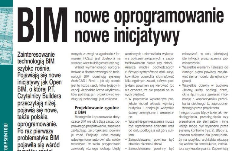 BIM – nowe oprogramowanie, nowe inicjatywy