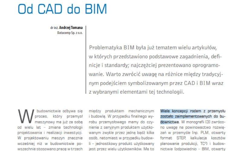 Od CAD do BIM