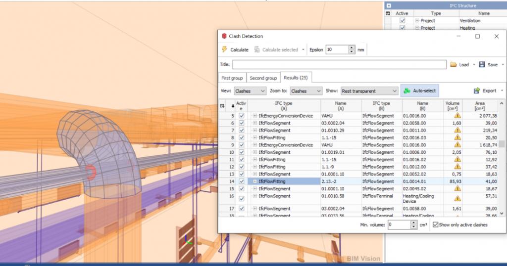 Wykrywanie kolizji w systemach modelowania i narzedziach specjalistycznych 3